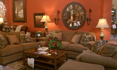 Flexsteel My Style Sofa, Loveseat And Chair. Option 2 Shown. Discovery  Furniture In