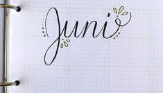 Bullet Journal / Filofax Juni Vorlage Bullet Journal, Juni, Headers, Filofax, Math, Diy, Templates, Draw, Basteln