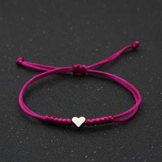 Very nice and comfortable bracelet to wear every day without having to take it off. Bracelet size: Adjustable (16-24cm) FREE SHIPPING: NOTE: Due to high demand please allow 4-5 weeks for delivery. Couple Bracelets, Ankle Bracelets, Bracelet Men, Small Heart, Love Heart, Friendship Jewelry, Lucky Charm, Red Roses, Beaded Jewelry