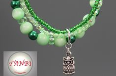 Armband Eule ♥♥♥ MärzBlatt ♥♥♥ von TANBI-accessories:  Schmuckstücke für Kids und Erwachsene auf DaWanda.com