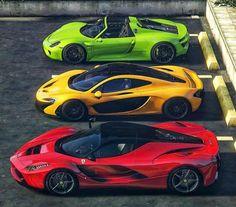 Which one? Porsche 918 Spyder, McLaren or Ferrari LaFerrari Which one? Porsche 918 Spyder, McLaren or Ferrari LaFerrari Ferrari Laferrari, Maserati, Bugatti, Lamborghini Cars, Luxury Sports Cars, Exotic Sports Cars, Cool Sports Cars, Cool Cars, Exotic Cars