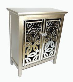Solid wood #mirror #fronted silver art deco design crystal cabinet #storage , View more on the LINK: http://www.zeppy.io/product/gb/2/201627219237/