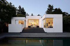 Medina Residence of Washington in Boxy White Exterior   Home Design Lover