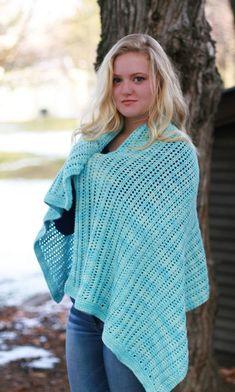 Snow Kisses Shawl - knitting loom - free pattern