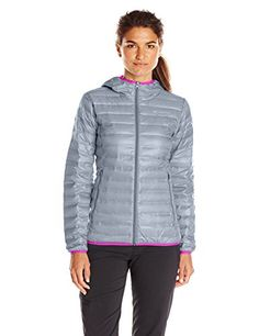 Columbia Sportswear Womens Flash Forward Hooded Down Jacket Tradewinds GreyBright Plum XSmall * For more information, visit image link.(This is an Amazon affiliate link and I receive a commission for the sales)