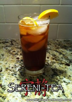 Sereni-Tea (Firefly/Serenity cocktail)  Ingredients: 1 oz Firefly Sweet Tea Vodka 3/4 oz Captain Morgan's Original Spiced Rum 3/4 oz silver tequila 3/4 oz gin 1 oz sour mix Sweet Tea Coca-cola Lemon  Directions: Shake all ingredients, except for the sweet tea and cola, with ice and pour in a highball glass.  Top off with an even mix of cola and sweet tea and garnish with a lemon wedge. Toast to the Independents and drink up!