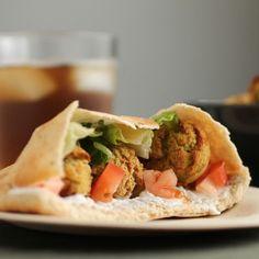 Baked Falafel HealthyAperture.com