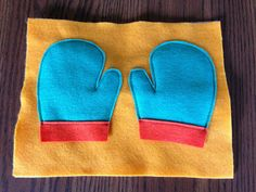 Glued To Glory: Quiet Book #21: Warm Mittens. Easy page to create for toddlers in their winter quiet book.