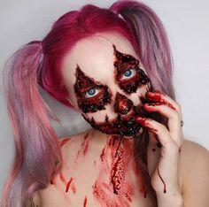"""15 Maquillajes sangrientos de Halloween que te harán decir """"no más, por favor"""""""
