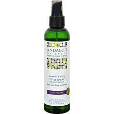 Andalou Naturals Full Volume Style Spray Lavender and Biotin Description: Benefits Fine, Limp, Thin Hair Fruit Stem Cell Science Regenerate Fruit Stem Cells Renew Repair Regenerate 71% Certified Organ