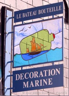 Ship in a Bottle Restaurant Signs, Pub Signs, Shop Signs, Metal Signage, Ship In Bottle, Nautical Signs, Signs Of Life, Old Pub, Rues