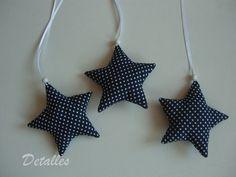 3er Set Stoffanhänger ♥ Sterne ♥ Freie Farbauswahl