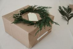 diy gift wrapping + mini wreaths.