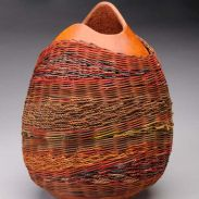 Another beautiful woven gourd by Suzi Nonn