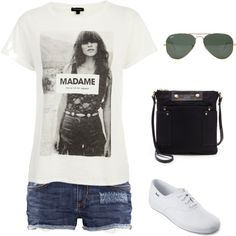 #169 by nandamfontes on Polyvore featuring moda, River Island, H&M, Keds, MARC BY MARC JACOBS and Ray-Ban