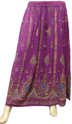 Womens Indian Long Skirts Sequins Ankle Length Rayon India Clothing $25.99 #bestseller  http://www.haveheartdaily.com/hobo-bags.html
