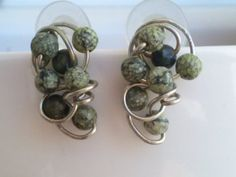 Artisan handcrafted wirework silver earrings with by magyartist, $35.90
