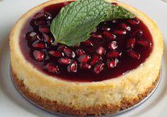 Dishing Up Delights: Blushing Pom Holiday Cheesecake