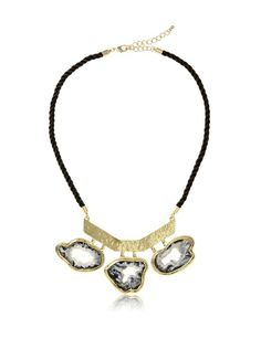 Saachi Open Druzy Necklace On Black Cord, http://www.myhabit.com/redirect/ref=qd_sw_dp_pi_li?url=http%3A%2F%2Fwww.myhabit.com%2Fdp%2FB00F92XFR4