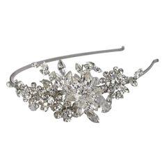 Halo and Co English Violet Bridal Headband - Bridal Jewellery - Crystal Bridal Accessories