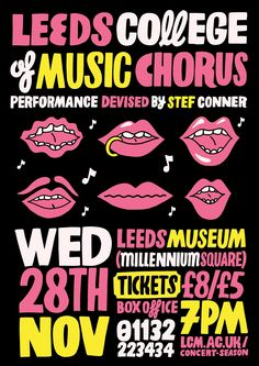The Leeds College of Music Chorus featuring Stef Conner, Nov 2012, by Kate Prior: http://kateprior.com/