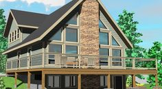 The Sylvan Lake - Prefab Cabin and Cottage Plans | Winton Homes
