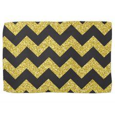 Gold Chevron Kitchen Towel
