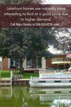 Be one of the exclusive owners of a lakefront home for sale in Oakland County! Lakefront Homes For Sale, Waterfront Homes, Oakland County Michigan, More Fun, Live, Outdoor Decor, House, Home, Haus