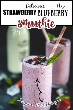 Dont you simply love smoothies? So today I am presenting one of the most exotic smoothie recipes Strawberry Blueberry Smoothie which is a soothing nutritious berry overload drink. Kick-start your day with this fresh fruits smoothie and carpe diem! Smoothie Recipes With Yogurt, Coconut Milk Smoothie, Yogurt Smoothies, Easy Smoothies, Strawberry Blueberry Smoothie, Blueberry Recipes, Strawberry Recipes, Recipe With Strawberries And Blueberries, Carpe Diem
