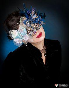Butterfly Masquerade Mask Swarovski Elements by ElvenDesignArt, $295.00