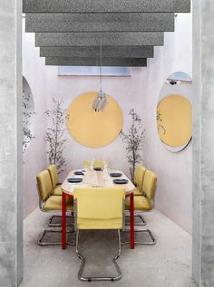 A concrete and pastel oasis in Spain