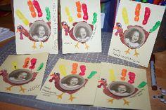 Thanksgiving Craft with Kids: Turkey Handprint Photo Card