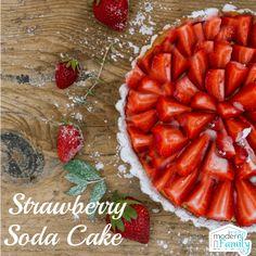 Strawberry Soda Cake is one of my favorite desserts! Also known as Strawberry Jello Cake (yum! Just Desserts, Delicious Desserts, Strawberry Jello Cake, Soda Cake, Yogurt Popsicles, White Cake Mixes, Perfect Breakfast, Desert Recipes, Good Food