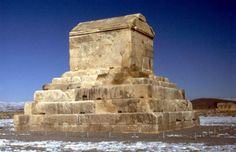 On October 29, 540 BCE Cyrus the Great entered the city of Babylon and captured the last king of the Neo-Babylonian Empire. After his death 10 years later, many believe Cyrus was interred in this tomb in Pasargadae. The account of Herodotus from his Histories states that Cyrus met his fate in a fierce battle with Tomyris the queen of the Massagetae. An alternative account from Xenophon's Cyropaedia contradicts the others, claiming that Cyrus died peaceably at his capital.
