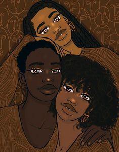 Black Art Painting, Black Artwork, Black Love Art, Black Girl Art, Black Girls, Black Girl Cartoon, Me Anime, Black Girl Aesthetic, Brown Aesthetic