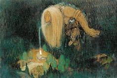 "John Bauer ""In The Troll Wood"""