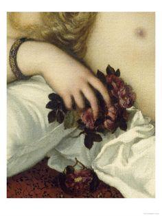 """Titian (Tiziano Vecellio) """"Venus of Urbino, before 1538 (detail)"""