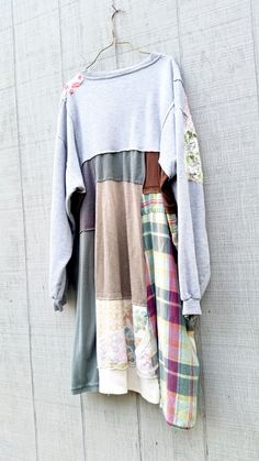 Plus Size Clothing Sweatshirt Dress Loose Fit by CreoleSha on Etsy