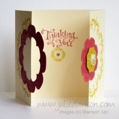 Julie's Stamping Spot -- Stampin' Up! Project Ideas Posted Daily: TUTORIAL: Interlocking Framelits Card