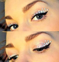 make up guide jewels eye makeup diamontes perfect sparkle eyeshadow make-up glitter silver make up glitter;make up brushes guide;make up samples; Gem Makeup, Jewel Makeup, Eyeshadow Makeup, Makeup Art, Beauty Makeup, Makeup Looks, Monolid Eyeliner, Crystal Makeup, Galaxy Makeup