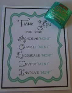 Image result for quotes to put with mints