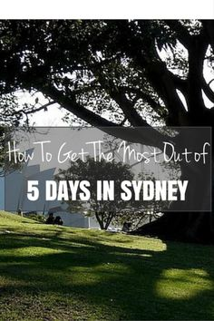 You have 5 days to explore Sydney? That's not a lot of time. That's okay. We'll guide you through five unbelievable days.