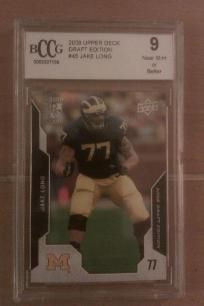 Jake LONG 2008 UD DRAFT EDITION Michigan wolverines Rookie card Graded BCCG 9 card #45