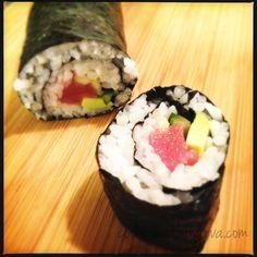 First Cut of Tuna Roll
