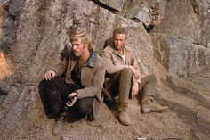 A gallery of Butch Cassidy and the Sundance Kid publicity stills and other photos. Featuring Paul Newman, Robert Redford, Katharine Ross, Ted Cassidy and others. Sundance Kid, Classic Hollywood, Old Hollywood, Ted Cassidy, Paul Newman Robert Redford, Westerns, Katharine Ross, Western Movies, Great Films