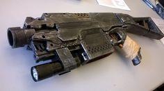 Nerf Stryfe, Fallout 3 SMG 3 by Shahnick on DeviantArt Modified Nerf Guns, Nerf Storage, Cool Nerf Guns, Nerf Mod, Steampunk Weapons, Cool Art, Fun Art, Critical Role Fan Art, Fallout 3