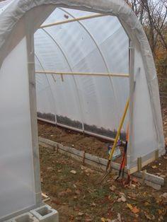 Building Greenhouse Doors » The Door Garden
