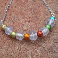 Summer Snowballs  Sugar Glass Necklace on by ReasonablyRustic, $26.00