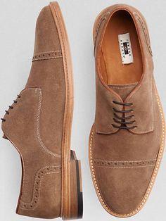 54b6c12a6cdc Joseph Abboud Baldwin Tan Cap-Toe Lace-Up Shoes Stilguide Til Mænd