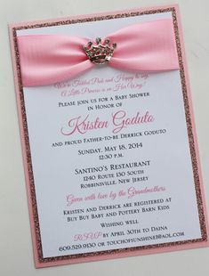 Pink Princess Baby Shower Invitation with by atouchofsunshine4